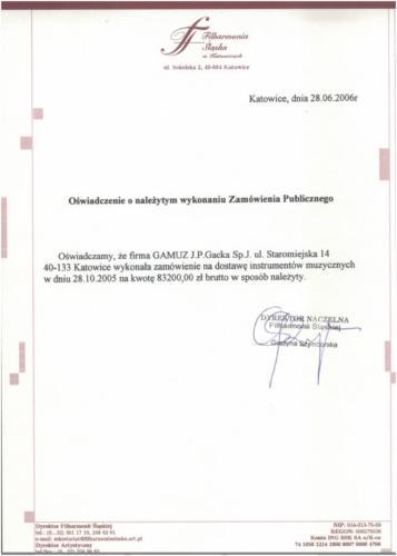 FILHARMONIA ŚLASKA W KATOWICACH